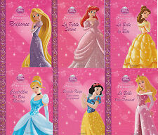 6 livres PRINCESSES Disney Ma Collection Raiponce Cendrillon Blanche-Neige