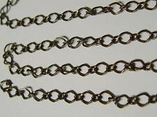 5 Ft Antique Brass 6x10mm Diamond Link Chain Long + Short Style 5 Feet SteamPunk