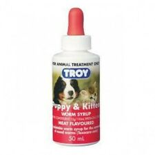 Troy Puppy and Kitten Worm Syrup - Meat Flavoured 50ml