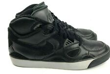Nike Auto Trainer Basketball Shoes Mens 9.5 Black Leather 407935-003 Athletic