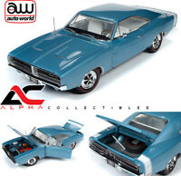 AUTOWORLD AMM1200 1:18 1969 DODGE CHARGER R/T (MCACN) LIGHT BLUE
