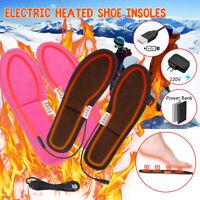 Semelle Intérieure Chauffante USB Électrique Hiver Chaud Pieds Pr Homme Femme