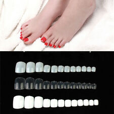 500 Pcs Natural Acrylic False Artificial Toe Nails Tips Nail Art Accessories
