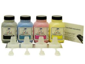 4 InkOwl COLOR Toner Refill Kit for BROTHER TN-210 HL-3070 MFC-9120 MFC-9125
