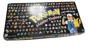 Vintage Pokemon Master Trainer Board Game 1999 official Nintendo Rare collectabl