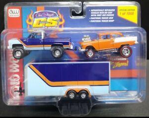 Auto World CS Custom Exclusive 1st time 4x4 Silverado & JL Zinger 55 Gasser