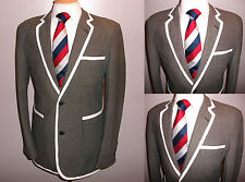 MENS 40 STRIPE BOATING REGATTA COLLEGE ROWING BLAZER SUIT JACKET SPORT COAT