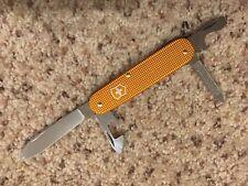Limited Victorinox Swiss Army Cadet Orange Aluminum Alox Knife Knives NIB
