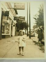 """Adorable Girl In Front of Stout Television & Radio 1940's B&W 8""""x 10"""""""
