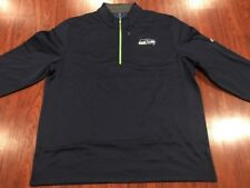 Majestic Men's Seattle Seahawks Across The Scoreboard Zip Jersey Jacket XXL 2XL