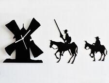 Don Quixote Set of Three Silhouette - Wall Clock