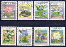 Flore - Fleurs Vietnam (98) série complète de 8 timbres oblitérés