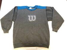 Vtg Wilson 80s 90s Large Teal Gray Ringer Sweatshirt Crew Mens Rare Usa Made