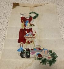 hand painted needlepoint canvases christmas Stocking
