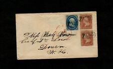 """""""BOSTON MASS"""" 7 cent rate to famous nurse """"Sarah Low, Care of Dr Low, Dover, NH"""""""