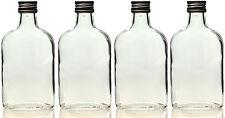 5 x 100 ml leere Glasflaschen Taschenflasche Flachmann Flasche 0,1 Liter