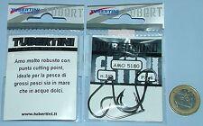AMI TUBERTINI Serie 5180 # 3/0 AMO pesca nero Black chrome cutting point
