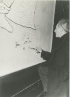 Fresques de Jean Cocteau à la mairie de Menton Vintage silver print, tirage post