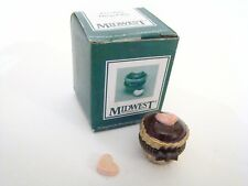 Midwest of Cannon Falls Porcelain Hinged Box Mini Truffle with pink heart PHB