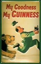 Guinness Lion Blechschild Schild 3D geprägt gewölbt Tin Sign 20 x 30 cm