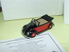 VW COCCINELLE CABRIOLET Noir & Rouge MATCHBOX VEM01