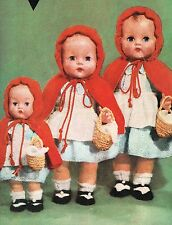 """Dolls clothes knitting pattern for 10"""",14"""" & 16"""" Baby doll.  (V Doll 95)"""