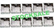 Plug Sockets 10 X FLUSH MOUNT METAL ELECTRIC BACK BOX SINGLE 1 GANG 25MM