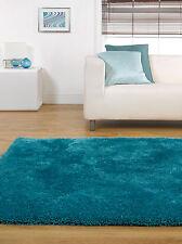 Home Essence Starlet Twilight Peacock Blue Shag Round Rug