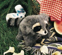 """RACCOON BABY  HAND  PUPPET # 2238 ~ 10"""" long ~ Free Ship/ USA  Folkmanis Puppets"""