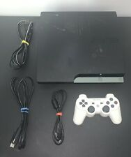 Sony PlayStation 3 Slim 160GB Charcoal Black Console 9 PRE-LOADED GAMES