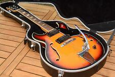 E Gitarre Aria Hollowbody Vintage im schönen Zustand 60/70ger Jahre mit Koffer