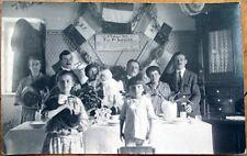 1924 Realphoto Postcard: Home Interior, Patriotic French Celebration, Champagne