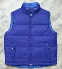 L.L. Bean Men's Reversible Goose Down Puffer Vest size Medium Blue