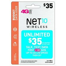 NET 10 REFILL  Prepaid $35 Refill Top-Up , AIRTIME  RECHARGE  UNLIMITED TALK/TEX