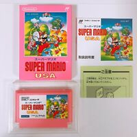SUPER MARIO USA Famicom Nintendo with box and manual Japan game FC NES VERY GOOD