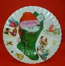 Vintage J&G Meakin England To A Special Girl Christmas holiday decorated plate