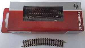 * Fleischmann 22233 x 1 Curve Rad 2 = 228.2mm 24 Deg Track Section N Gauge (PL)