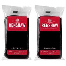 1Kg Renshaw Ready To Roll Icing Fondant Cake Regalice Sugarpaste JET BLACK 1000g