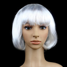 New Women Full Bangs Wig Short Wig Straight BOB Hair Cosplay Party Fashion Dress