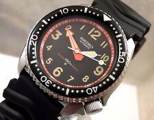 Piloto de cerámica Seiko inversa hacia atrás Negro Reloj automático de buceo Personalizado 6309