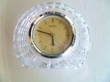 Vintage Seiko Shelf Mantel Table Crystal Clock Quartz Model QQZ003S - Flawless
