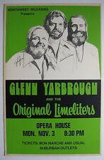 GLENN YARBROUGH LIMELIGHTERS Seattle Opera House 1975 US CONCERT POSTER Folk