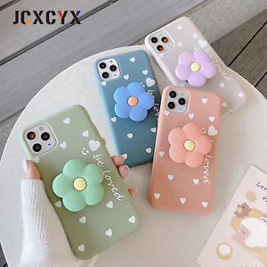 3D Luxury cute cartoon Flower Soft silicone phone case for iPhone