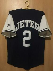NEW YORK YANKEES USA BASEBALL SHIRT JERSEY STARTER SIZE M DEREK JETER #2