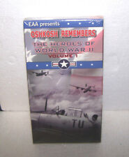 NEW THE HEROES OF WORLD WAR II VOLUME 1 MOVIE TAPE VHS for VCR OSHKOSH REMEMBERS