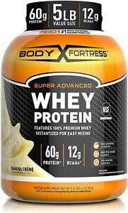 Body Fortress Whey Protein Powder 5 lb, Banana Creme