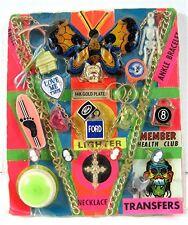 Mini Lighter Lock Rings YoYo Charms Toys Gumball Vending Machine Disp Card #136