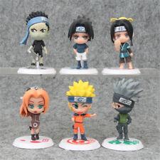 Uzumaki Naruto Kakashi 6 Pcs Anime Action Figure Kids Toy Doll Gift Cake Topper