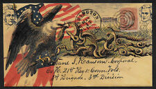 Civil War collector envelope reprint w original period stamp 155 years old *A23