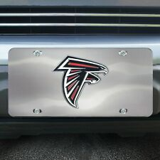 NFL Atlanta Falcons Laser Inlaid Metal License Plate Tag
